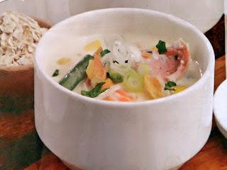 Gambar Resep Sup Oat Sosis Asap