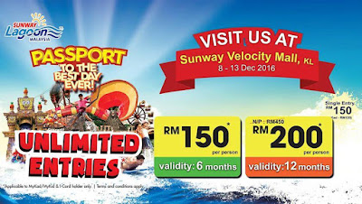 Sunway Lagoon Malaysia Passport Annual Membership Unlimited Entries
