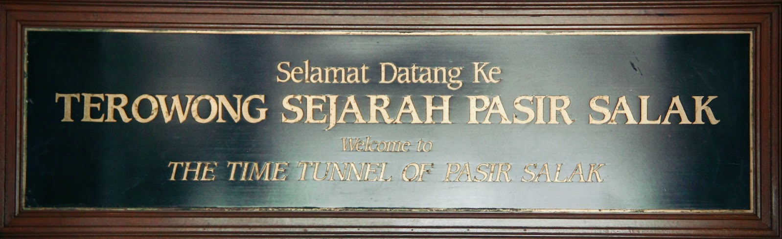 The Time Tunnel of Pasir Salak