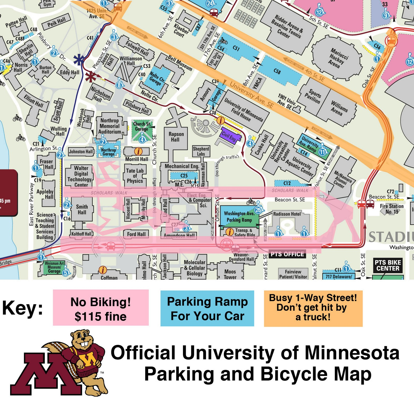 University Of Minnesota Map East Bank.Twin City Sidewalks Goldy S Frequently Asked Questions About Riding