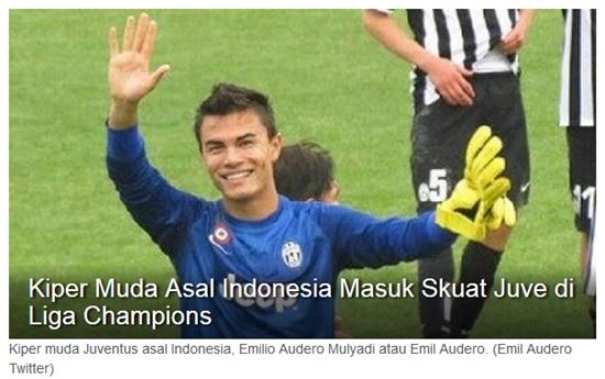 Kiper Muda Asal Indonesia Masuk Skuat Juve di Liga Champions
