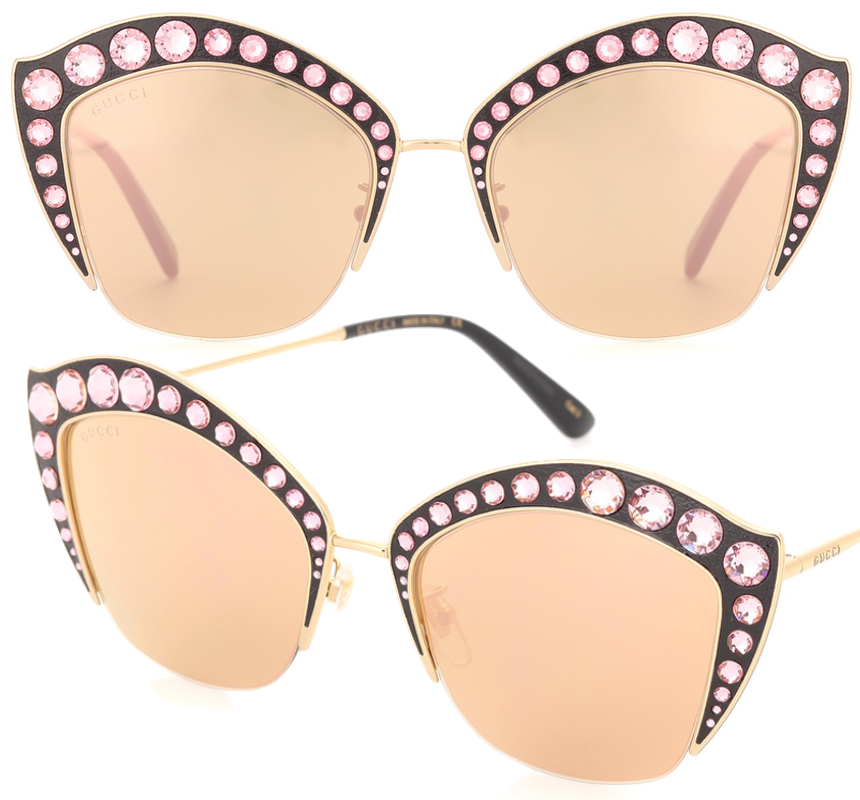 Gucci Crystal Embellished Cat-Eye Sunglasses