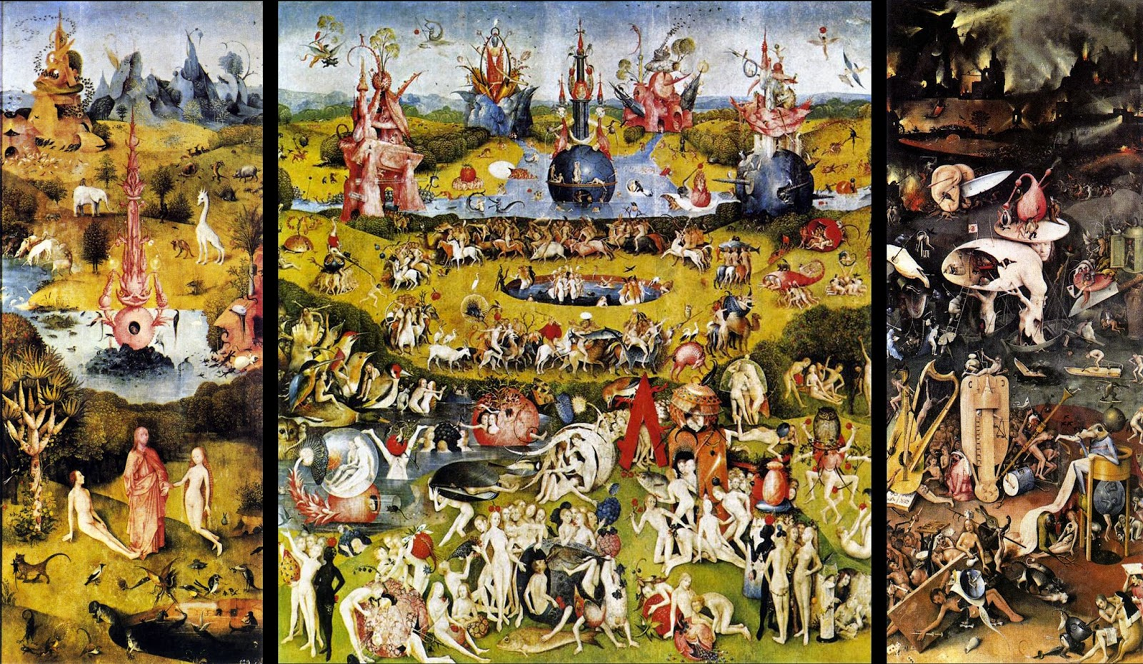 O Jardim das Delícias Terrenas - Bosch, Hieronymus e suas principais pinturas