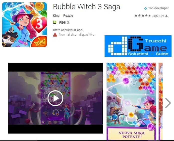 Soluzioni Bubble Witch Saga 3 livello 351 352 353 354 355 356 357 358 359 360 | Trucchi e Walkthrough level