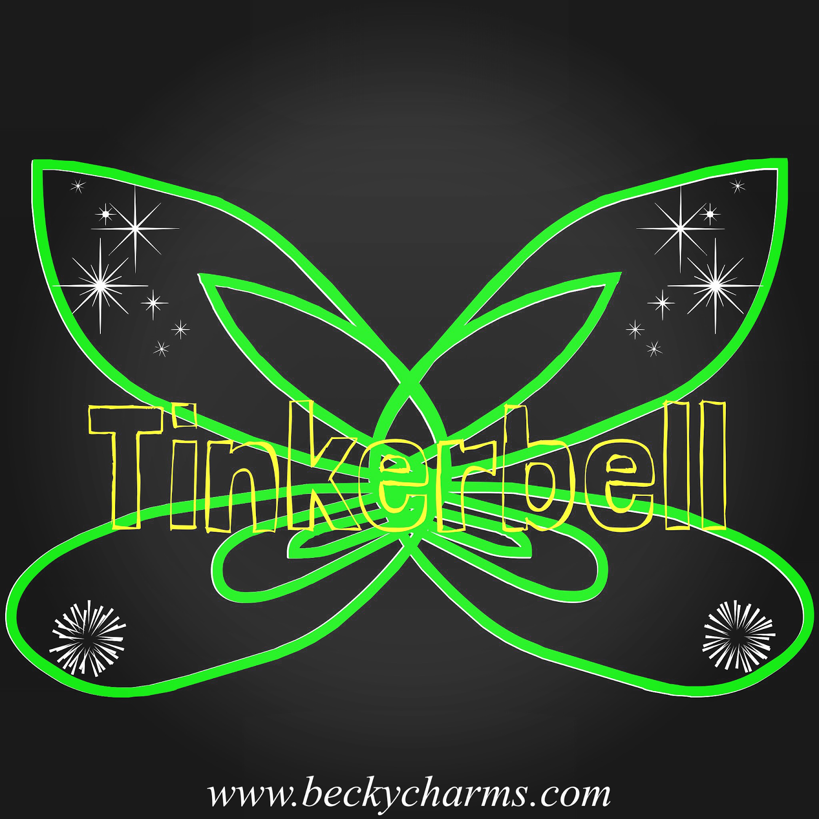 Disney Fairy Wings Tinkerbell Graphic Art Recreate by BeckyCharms