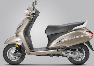 2018 Honda Activa Matte Selene Silver Metallic Colour