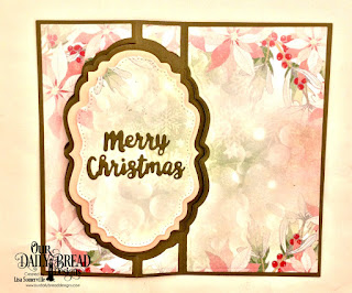 Our Daily Bread Designs: Custom Dies: Vintage Label Flip Fold with Layers, Double Pierced Vintage Labels, Holiday Words, Trees & Deer, Paper Collection: Christmas Collection 2018