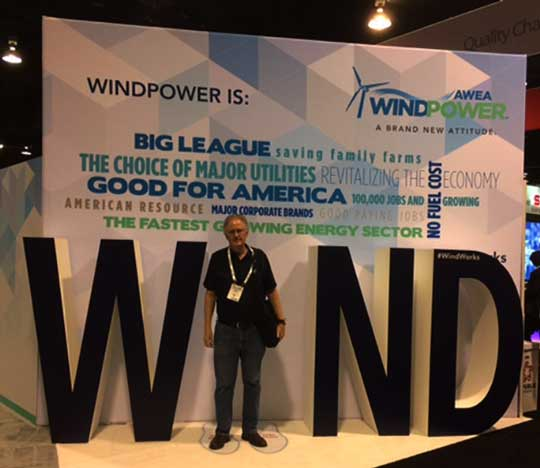 Resident Astronomer attends Windpower 2017 trade show in Anaheim (Source: Palmia Observatory)