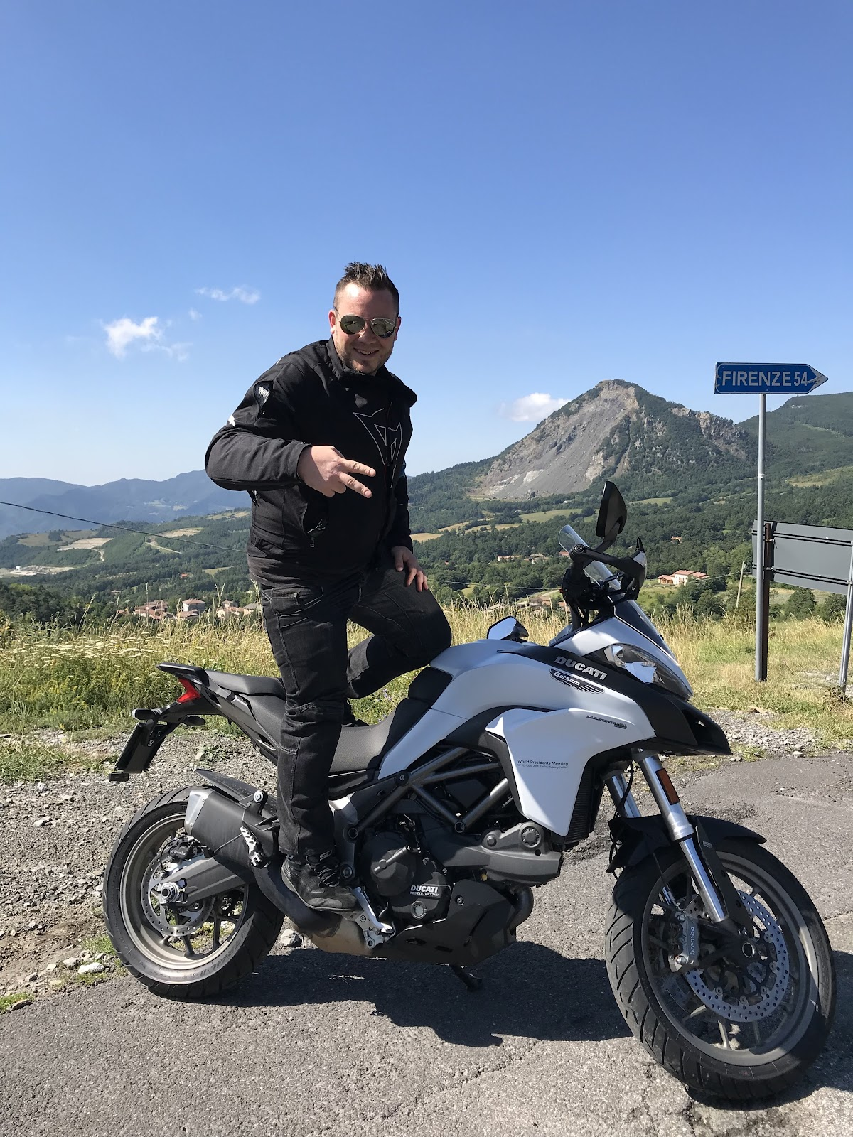 #WPMNeverEnds Tigh Loughhead of Gotham Ducati in Firenzuola Italy at the World Presidents Meeting 2018