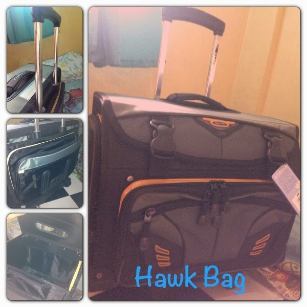 e35d04cf1 Well good thing there's no need for me to look further as my son chose the  HAWK BAG Trolley Bag.