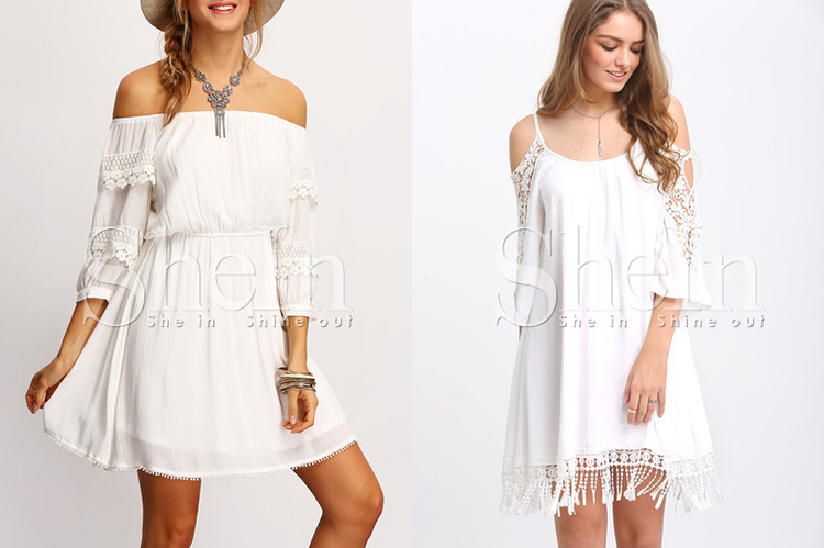 SheIn free shipping white dress