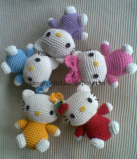 Crochet Hello Kitty Amigurumi Free Patterns - Toy Plush for Kids | 553x475