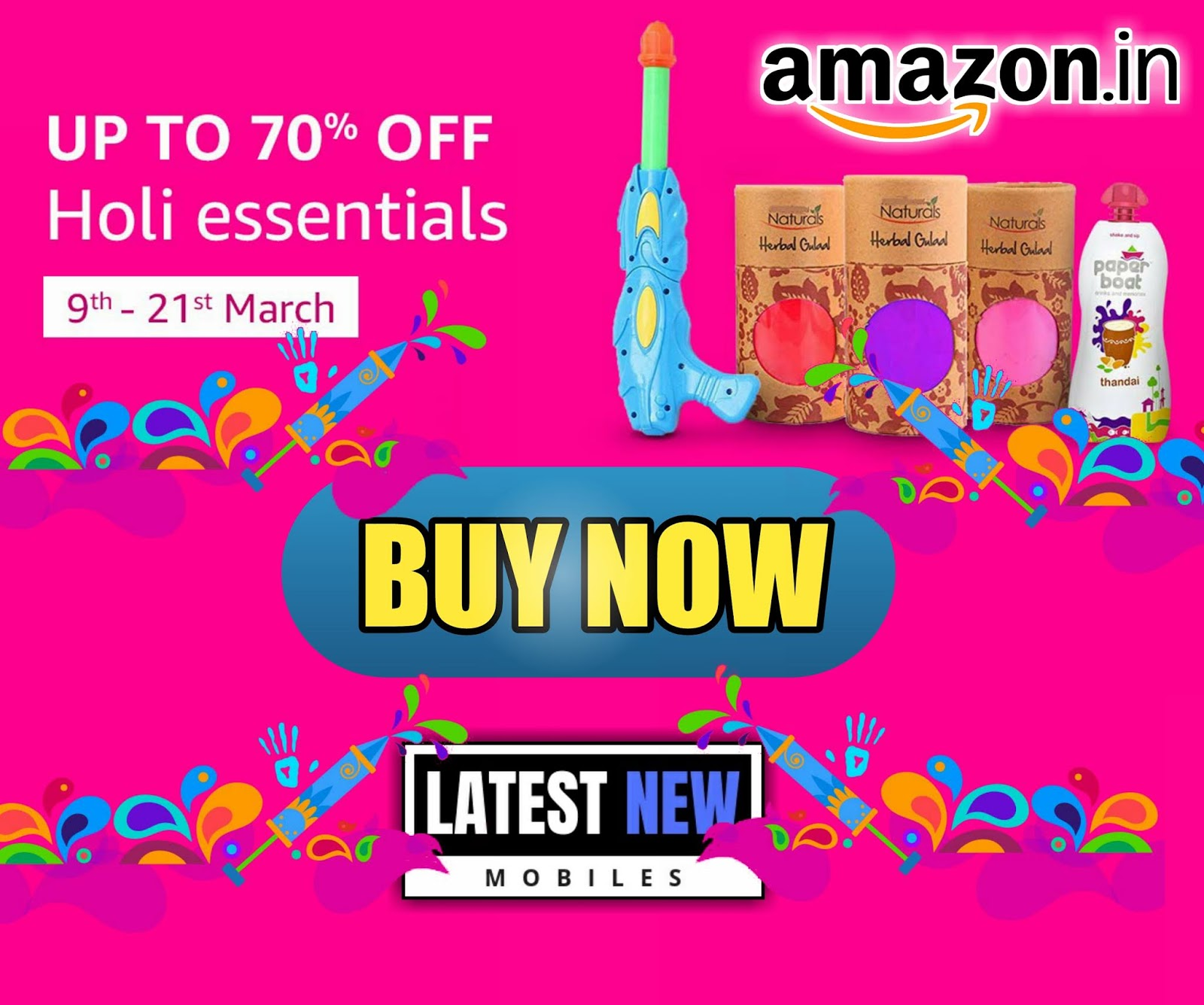 HOLI ESSENTIALS - UP TO 70% OFF
