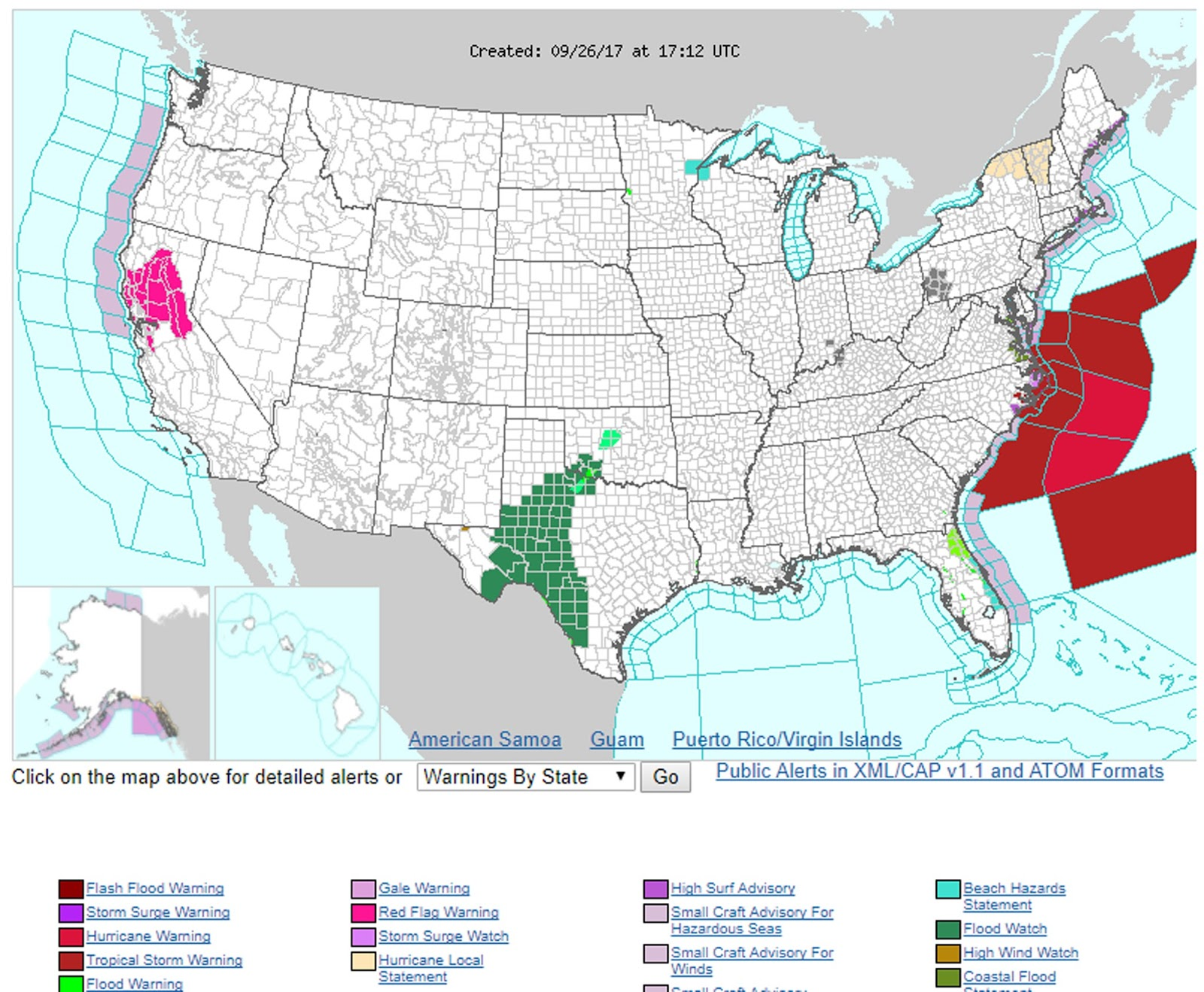this map provided by the noaa is an interactive visual tool to help you be prepared from flash flood and hurricane warnings to red flag and air quality
