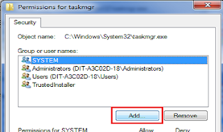 Restrict Specific User to access Task Manager