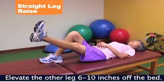 latihan SLR dan elevasi hamstring