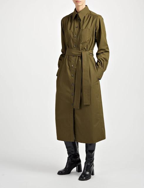 Сукня-сорочка кольору хакі