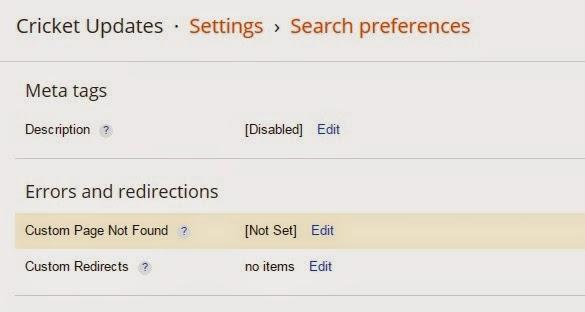 Set Custom redirect in your blog