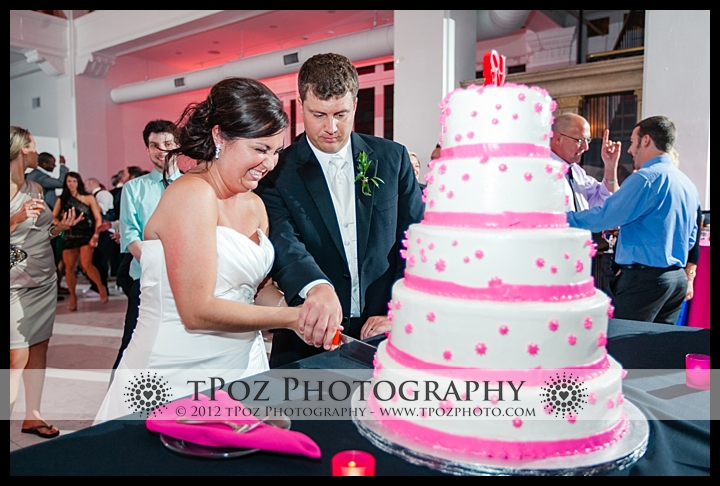 Cake Cutting at Philadelphia Trust Wedding Reception