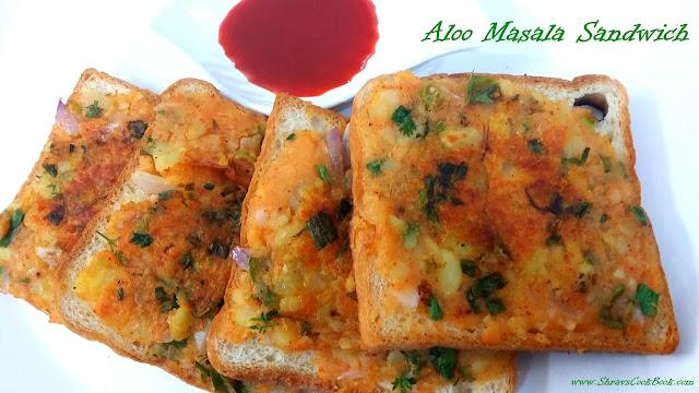 Aloo Masala Sandwich - how to make aloo sandwich recipe