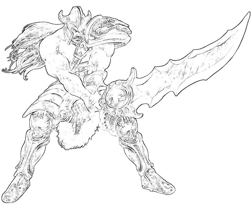 League of legends tryndamere sword temtodasas for League of legends coloring pages