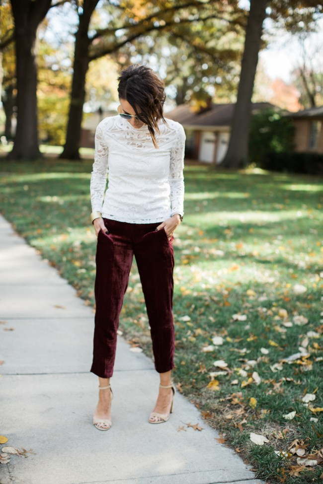 What One Little Momma Wore - Velvet Pants