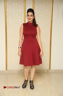 Telugu Tollywood Anchor Manjusha Pos in Red Short Dress  0166.JPG