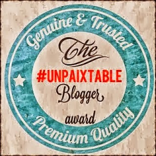 unpaixtable blogger award
