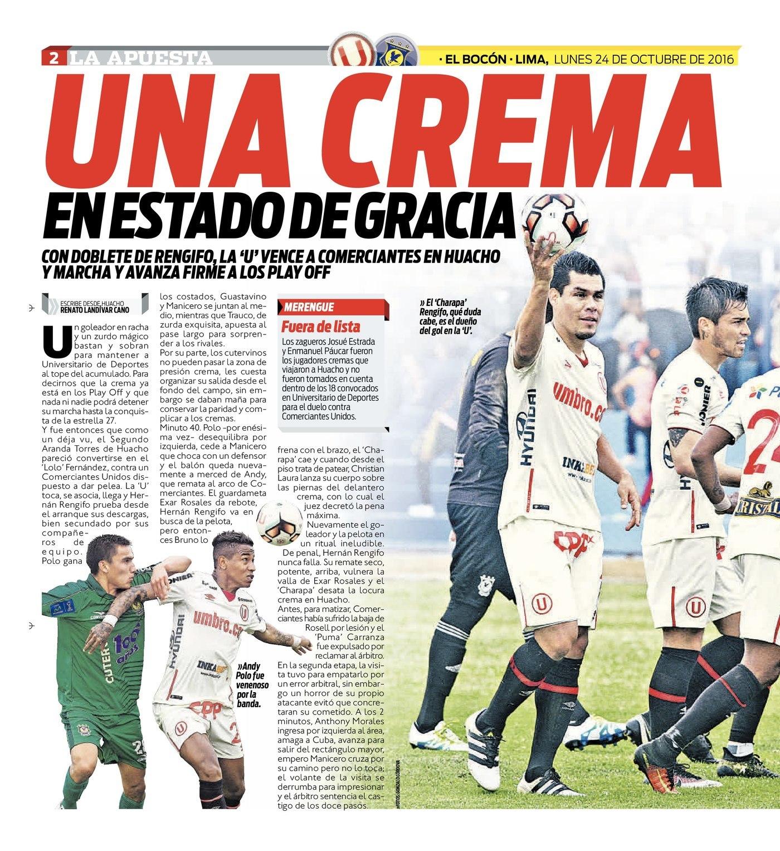 Universitario venció 2-0 a Comerciantes Unidos