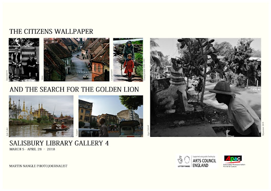 Martin Nangle: Salisbury Exhibition. The Citizens Wallpaper and The Search for the Golden Lion.