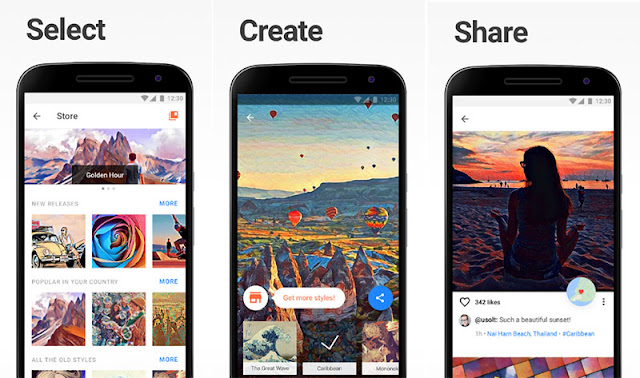 Aplikasi Edit Foto Android - Prisma