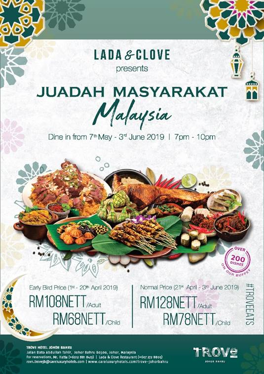 Juadah Masyarakat Malaysia Ramadhan Buffer At TROVE Hotel Johor Bahru!