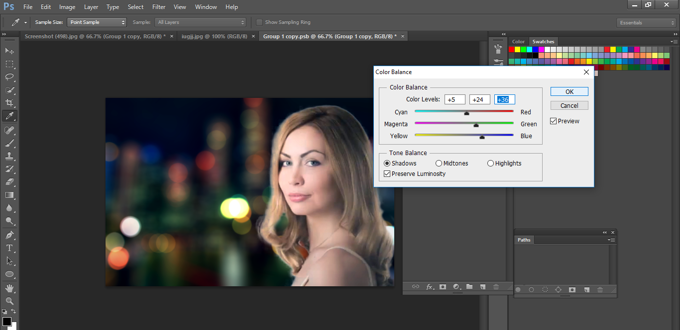 how to make blur in photoshop