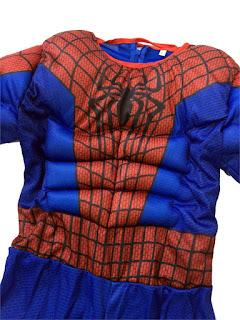 Spiderman super eroe marvel film movie Avengers Justice League Costume imbottito con muscoli + maschera Cappuccio carnevale travestimento cosplay festa a tema eta misura taglia bambinao 7 8 9 10 11 12 anni