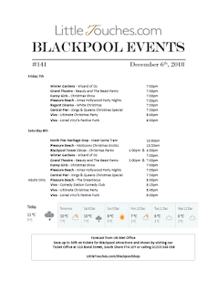 Blackpool Shows and Events December 7 to December 13 - PDF What's On listings print-off