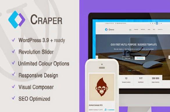Craper Responsive WordPress Theme