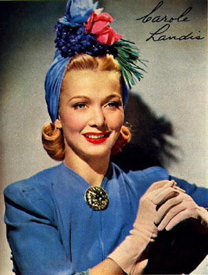Carole Landis in a Spring ensemble.