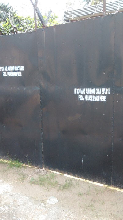 See what was written on a gate in Lagos State