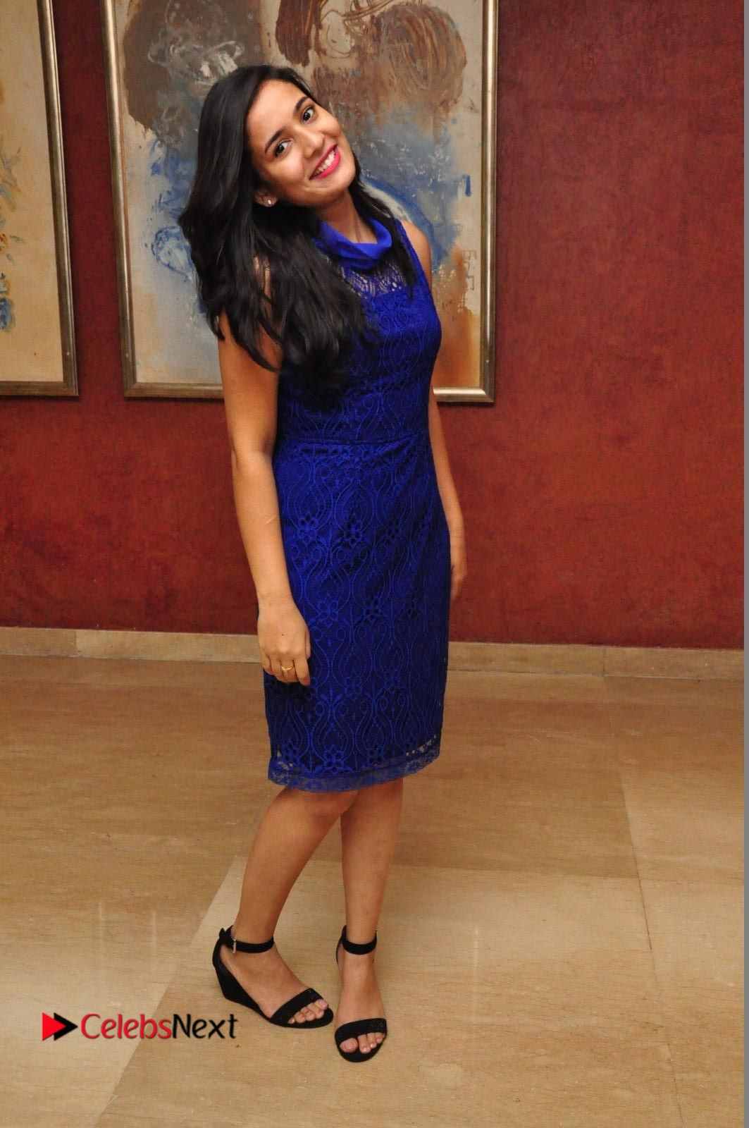 Radha Pictures in Blue Short Dress at Indian Princess 2016 Season 7 Event ~ Celebs Next