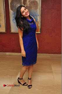 Actress Radha Pictures in Blue Short Dress at talabbayi Audio Launch  0030