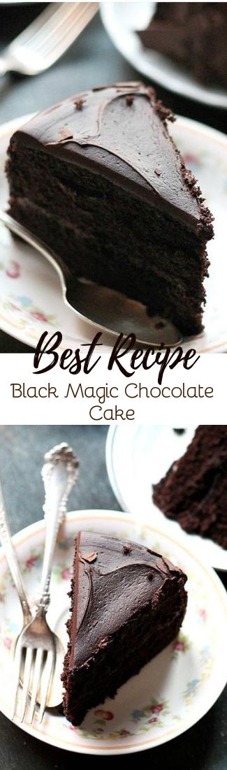 Black Magic Chocolate Cake #cakerecipe #chocolate