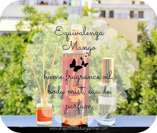 Review : Equivalenza body & home products (mango) | Drugstore and Bargain Lover || Greek Beauty Blog