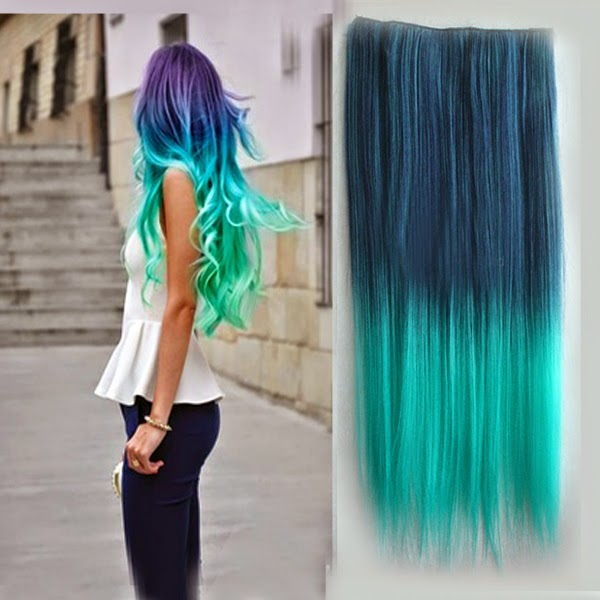 ombre hair extensions, beauty, hair, fashion, funky colors, review.