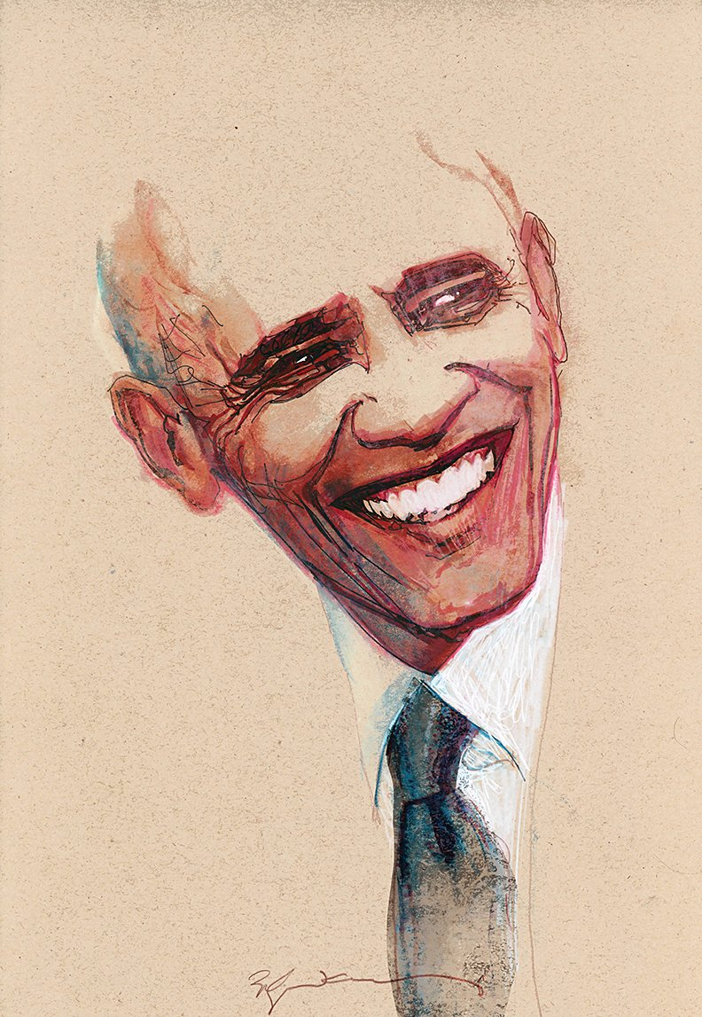 Thank you #POTUS, by Bill Sienkiewicz.