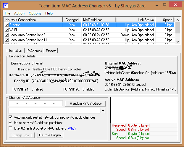 Technitium MAC Address Changer for Windows ~ Tricks Fan