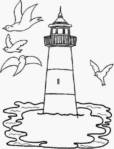 Lighthouse Coloring Pages For Kids  Free Printable Coloring Pages