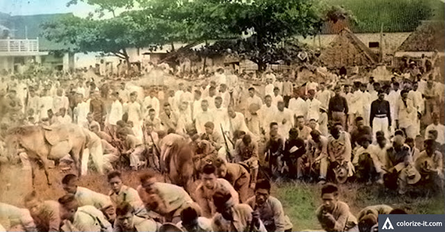 Image source: Pinoy Culture.  Inside a concentration camp in Batangas.