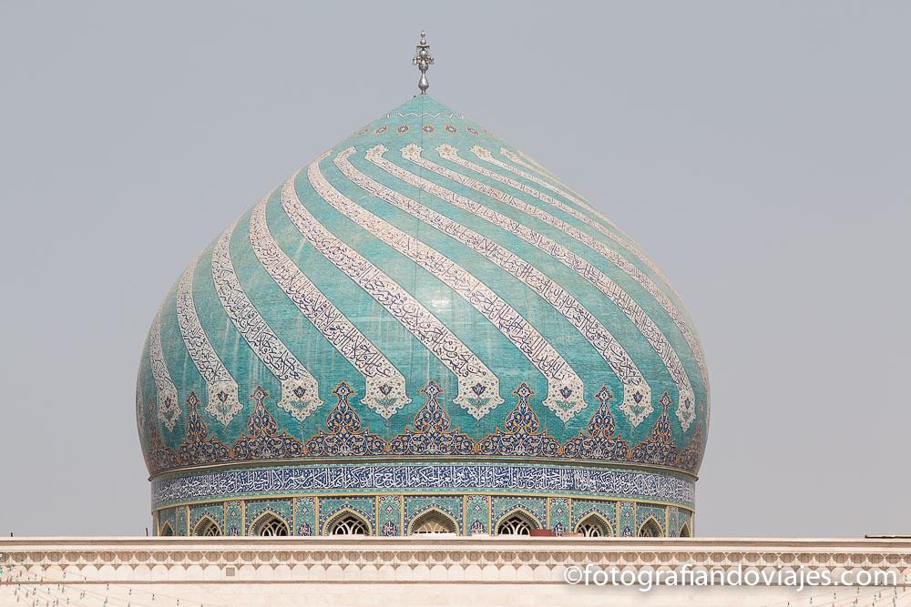 Cupula en la mezquita de Qom, Irán