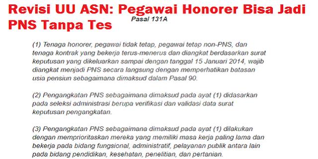 Kriteria Pengangkatan Honorer Tanpa Tes