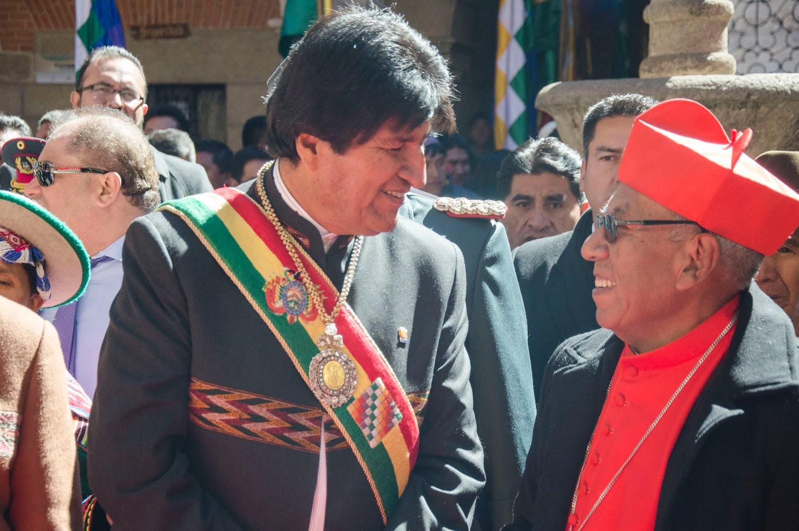 Cardenal acompañó en cada momento al mandatario del Estado plurinacional / ABI